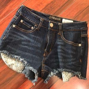 Denim shorts size 0 stretch